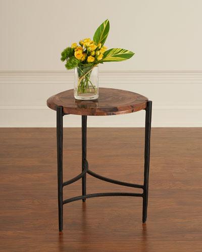 Twila Small Copper & Iron Side Table