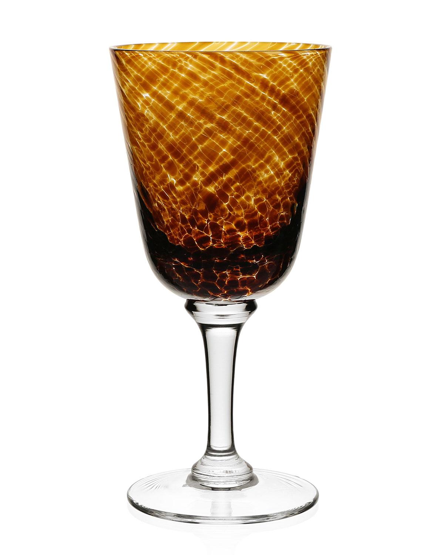 William Yeoward Clothing VANESSA GLASS WATER GOBLET, TORTOISE