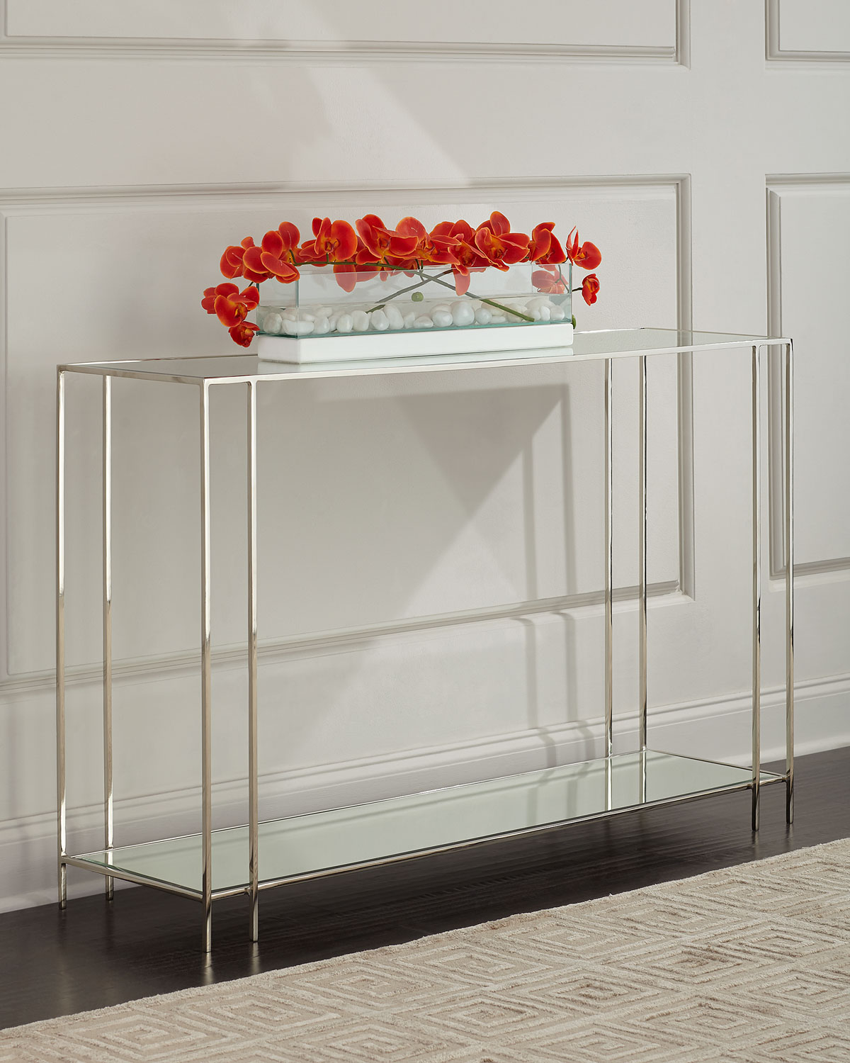 Rose Marie Mirrored Console Table