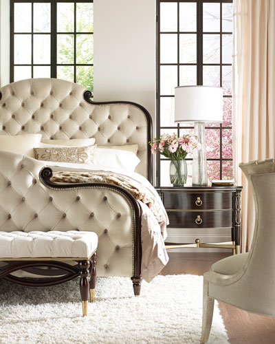 Everly Upholstered & Tufted King Bed