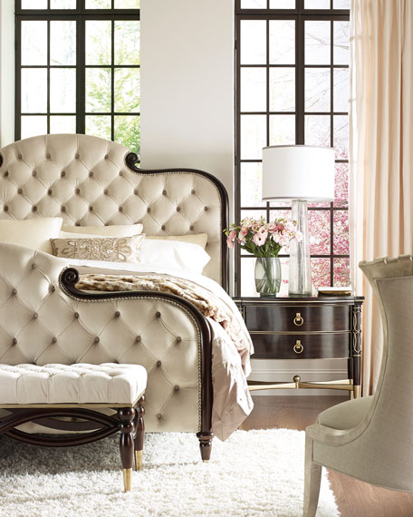 caracole Everly Upholstered & Tufted Queen Bed