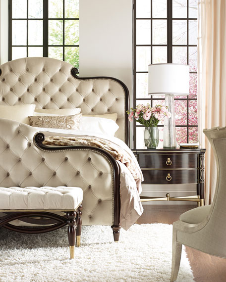 caracole Everly Upholstered & Tufted California King Bed