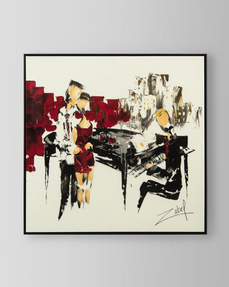 """John-Richard Collection """"Music in Red"""" Canvas Art by Zabel"""