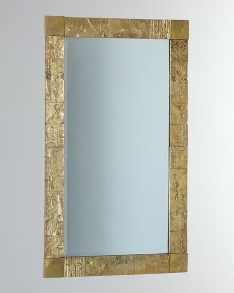 Global Views Cast Brass Geometric Mirror