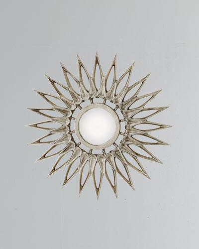 Dahlia Small Nickel Mirror