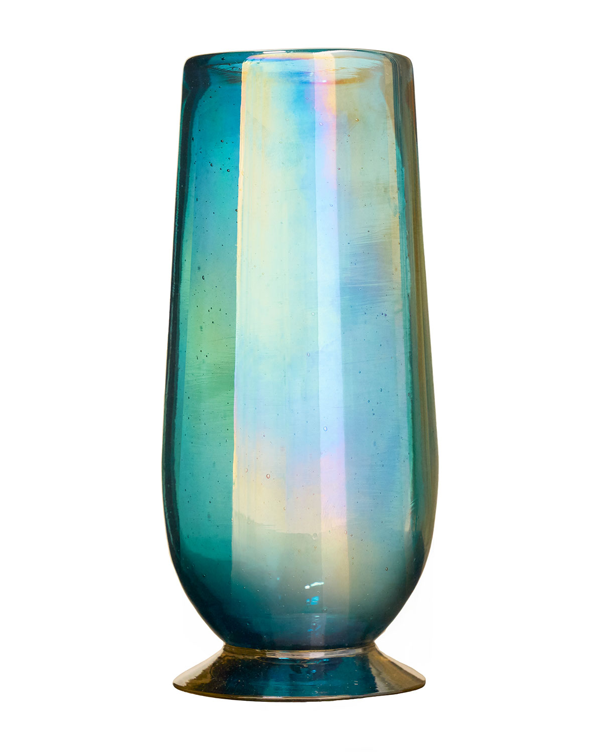 Tio Opalescent Drinking Glass - Turquoise