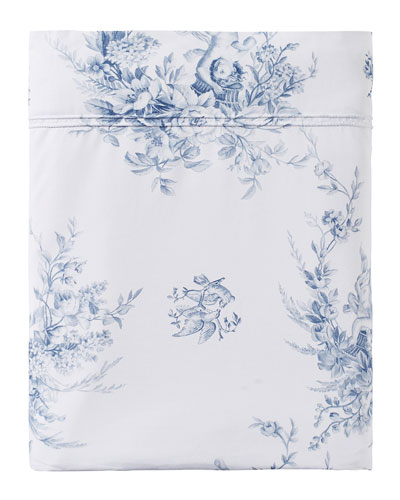 Evanescence 200 Thread Count Toile King Flat Sheet