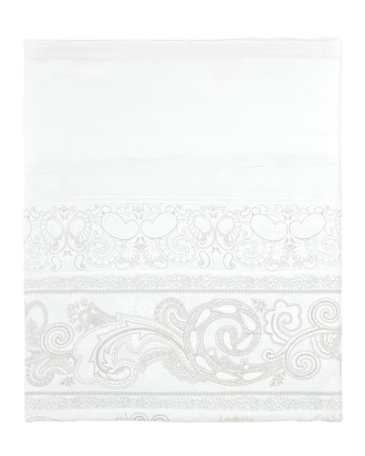 Majeste 300 Thread-Count Paisley Queen Flat Sheet