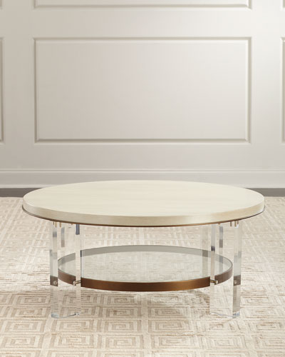Malone Acrylic-Leg Coffee Table