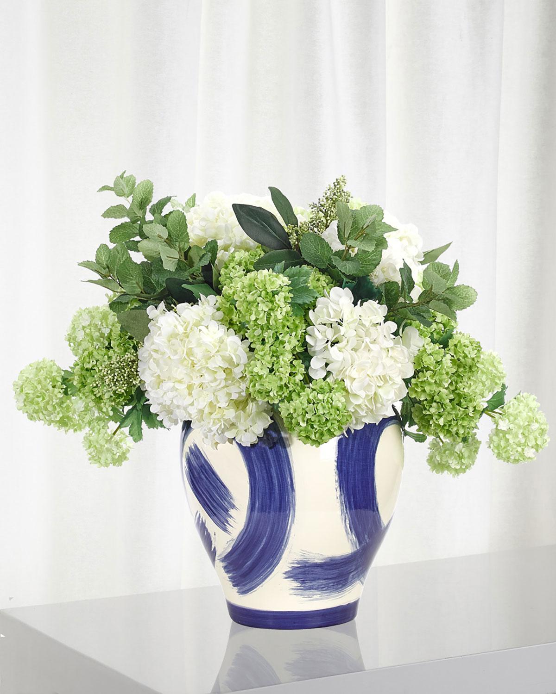 Hydrangea Snowball Floral Arrangement