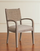 Hooker Furniture Pair of Mecate Woven-Back Dining Arm