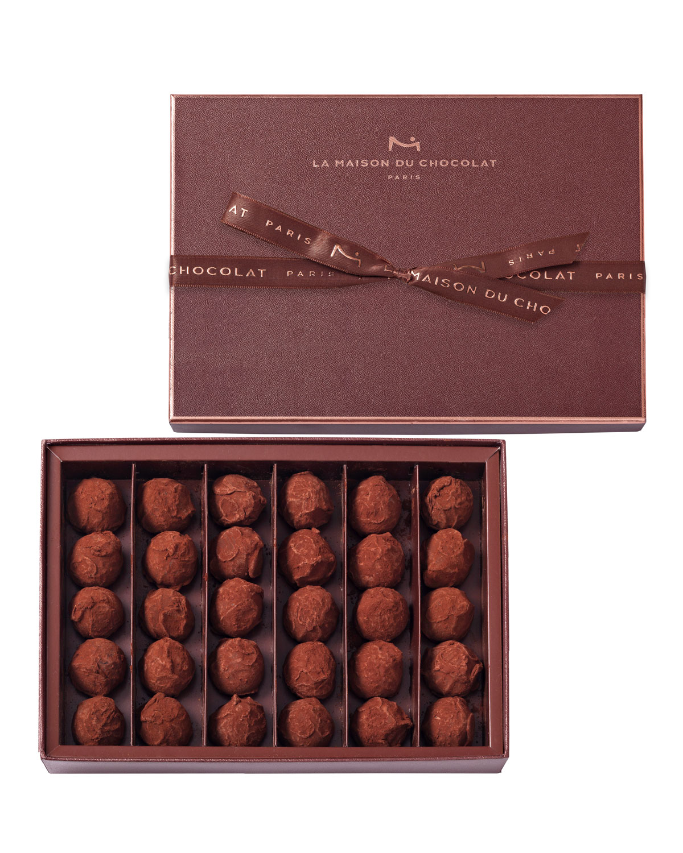 30-Piece Dark Chocolate Truffles Box