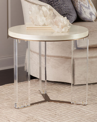 Malone Acrylic-Leg Side Table
