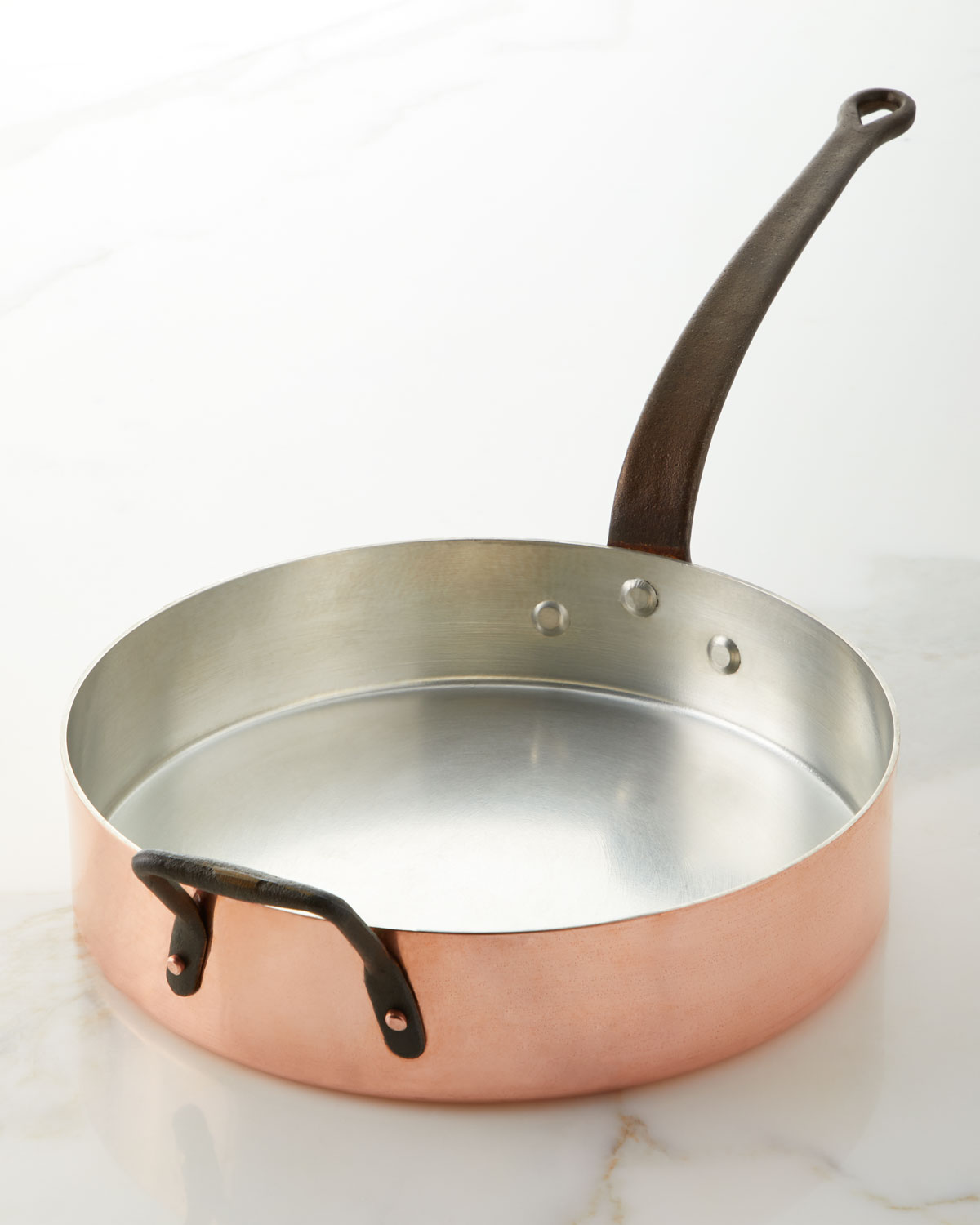 Duparquet Copper Cookware Cookware & bakewares SOLID COPPER SILVER-LINED SAUTE PAN