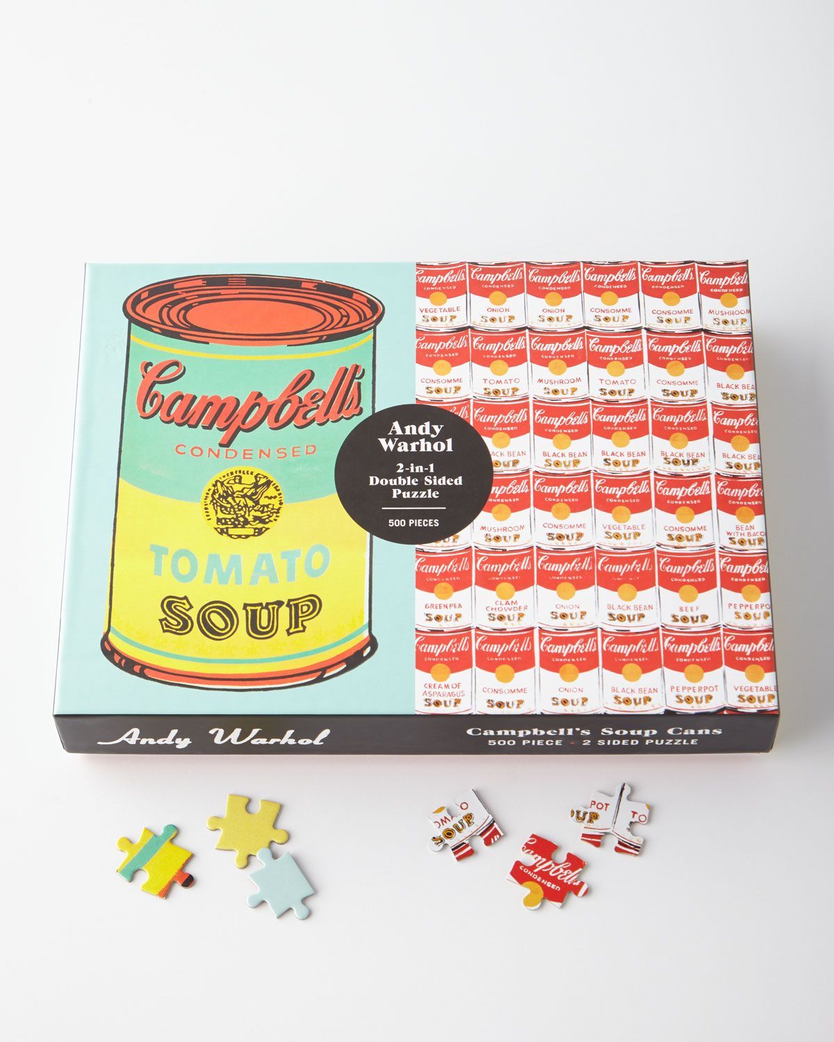 Andy Warhol Soup Cans 2in1 DoubleSided Puzzle