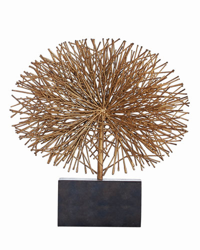 Large Gold Leaf Tumble Weed Sculpture
