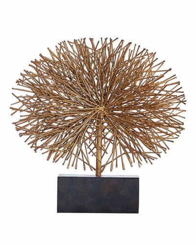 Small Gold Leaf Tumble Weed Sculpture