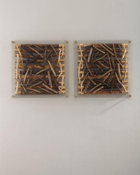 Palecek Acrylic Driftwood Square Wall Decor