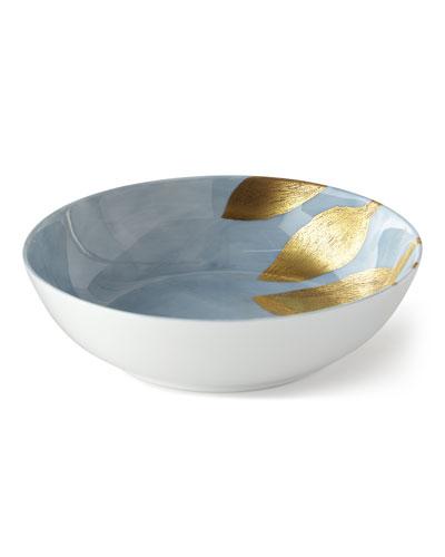 Daphne Lavande Gold-Leaf Cereal Bowl, Blue