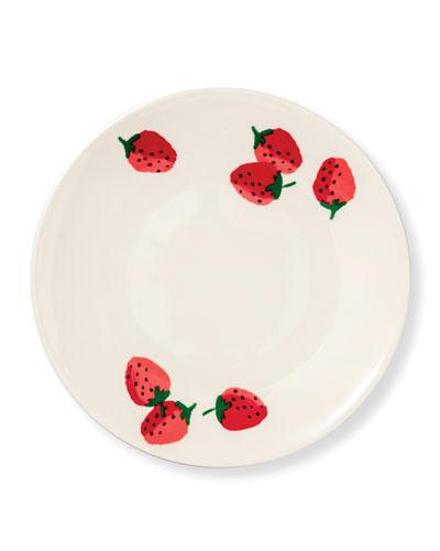 strawberries salad plate