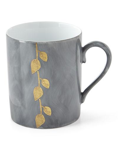 Daphne Ardoise Gold-Leaf Mug, Gray