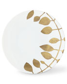 Haviland & Parlon Daphne White Gold-Leaf Dinner Plate