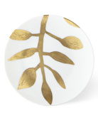Haviland & Parlon Daphne White Gold-Leaf Bread Butter