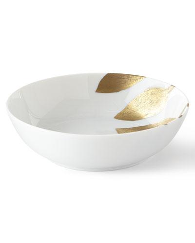 Daphne White Gold-Leaf Cereal Bowl
