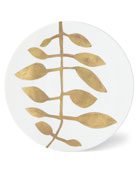 Haviland & Parlon Daphne White Gold-Leaf Buffet Plate