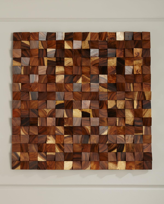 Wood Blocks Wall Panel Decor