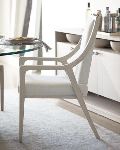 Axiom Cutout Dining Arm Chairs (Pair)