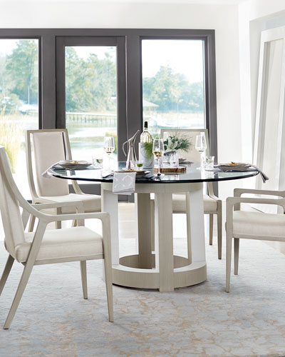 Quick Look. Bernhardt · Axiom Round Glass Top Dining Table ...