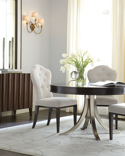Haven Button Tufted Dining Side Chairs (Pair)