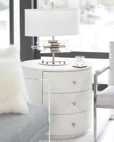 Axiom Round 3-Drawer Side Table