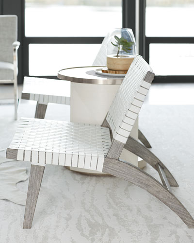 Silas Basket Weave Accent Chair