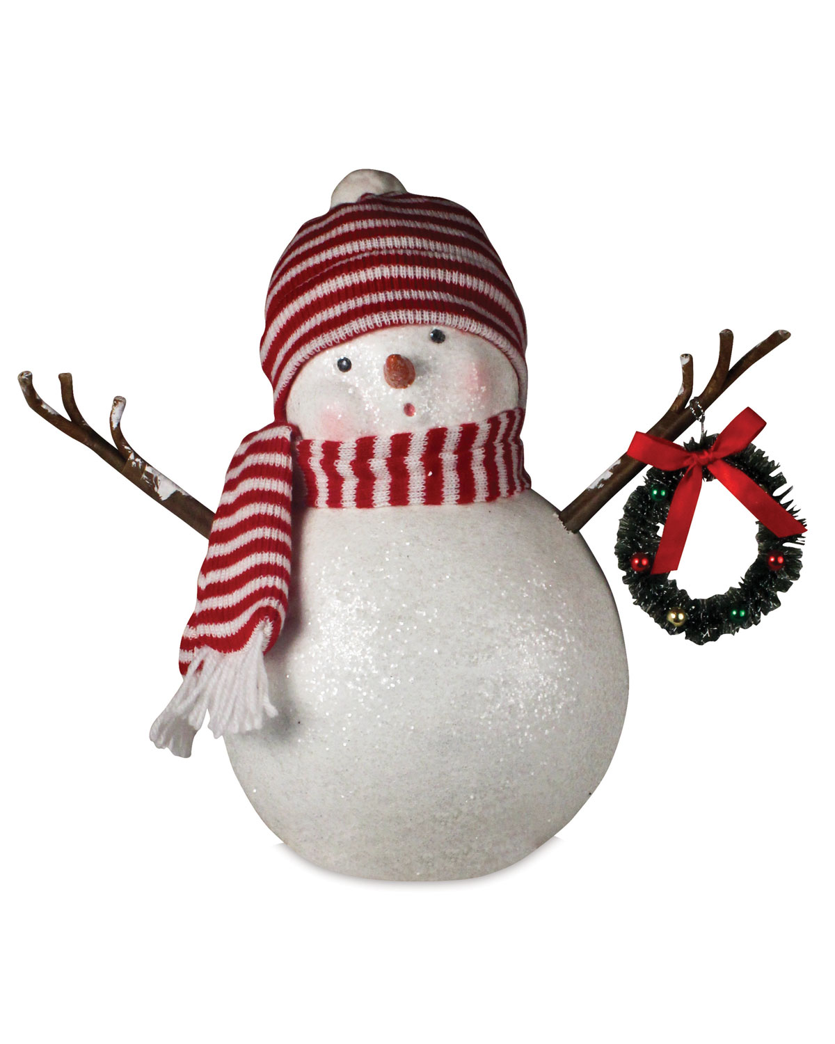 Frosty in Stocking Cap Christmas Decor Statue