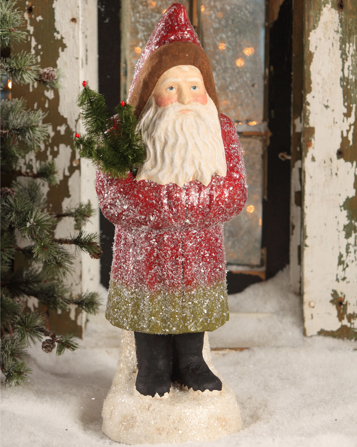 Traditional Belsnickel Large Paper Mache Christmas Decor