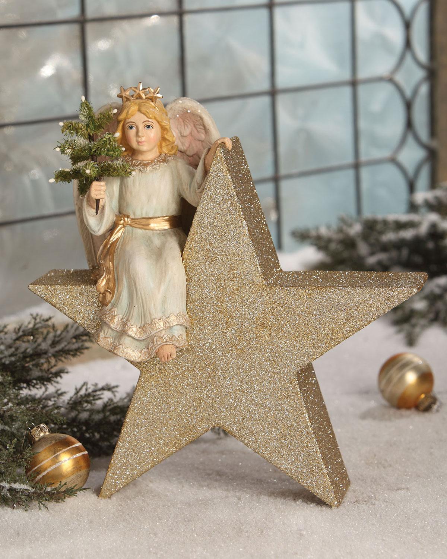 Angel on Star Christmas Decor