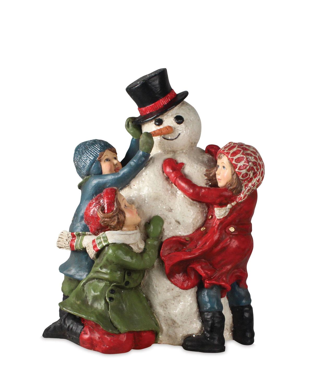 Building A Snowman Christmas Decor Statue