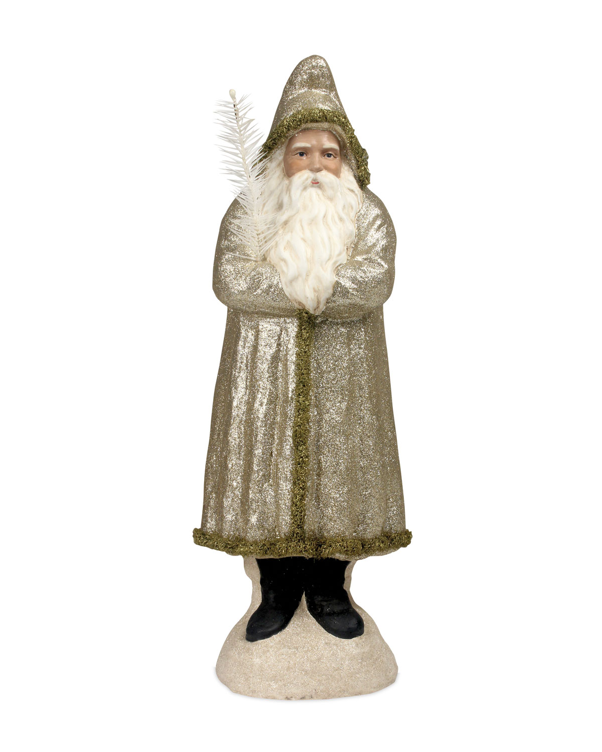 Peaceful Belsnickel Christmas Decor Statue