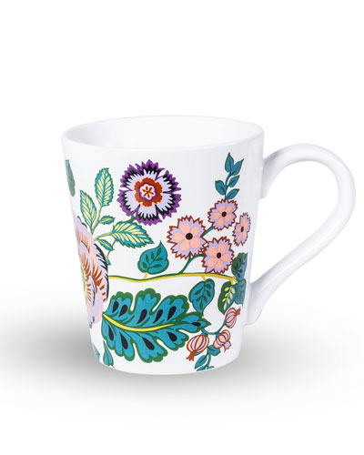 Vines Floral Ceramic Mug