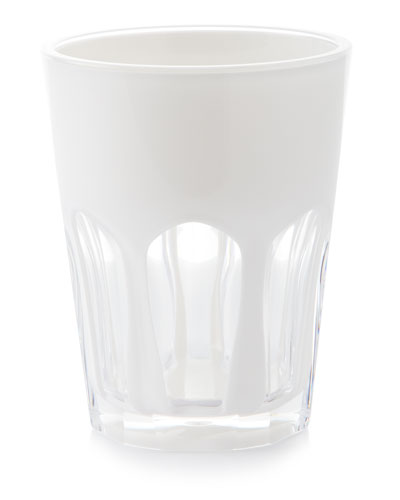 Double Face Acrylic Tumbler, White