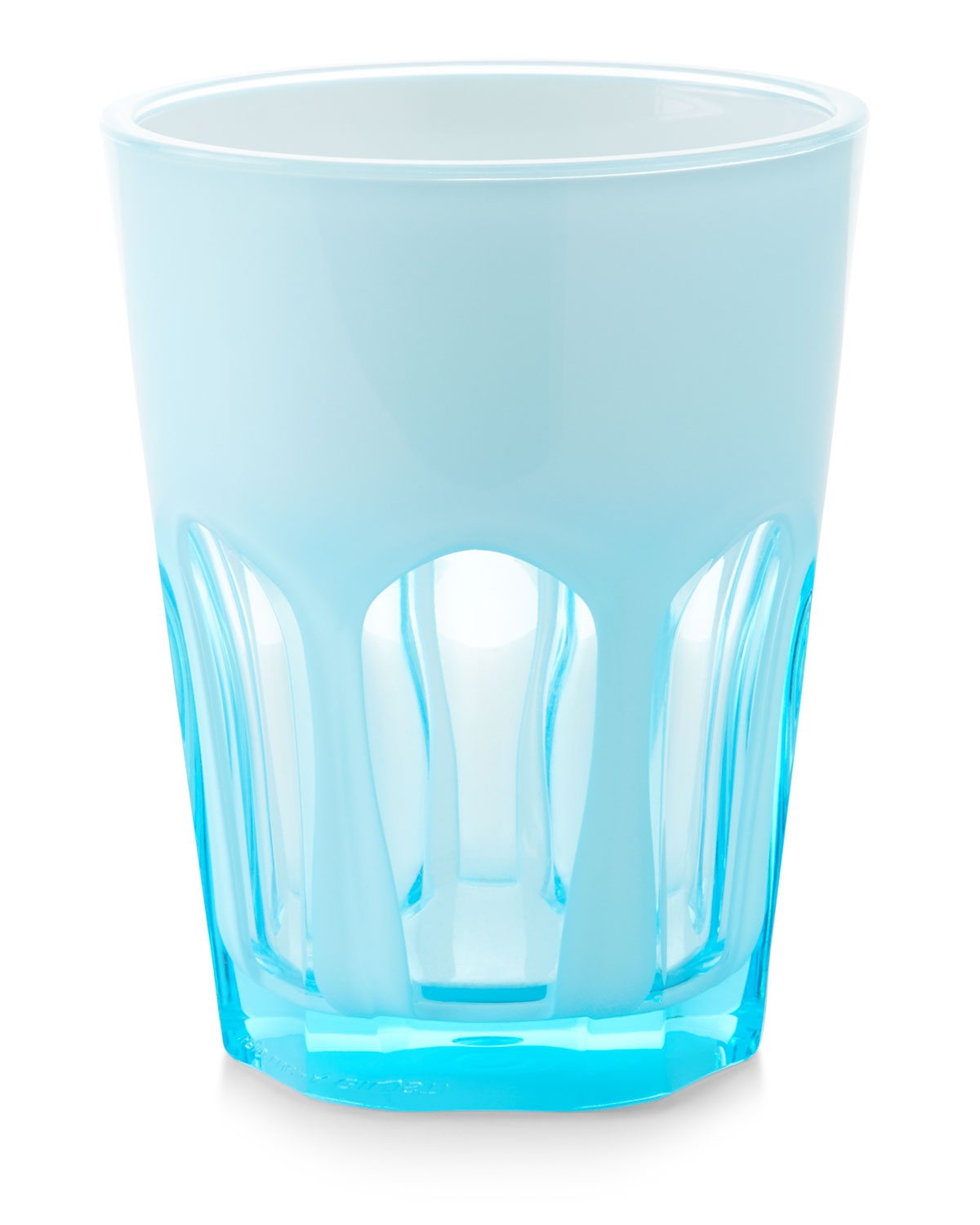 Double Face Acrylic Tumbler Glass, Turquoise