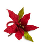 Poinsettia Pine Napkins, Set of 4 and Matching