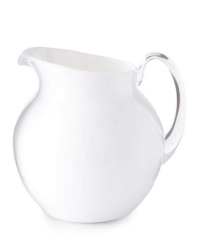 Palla Transparent Acrylic Pitcher, White