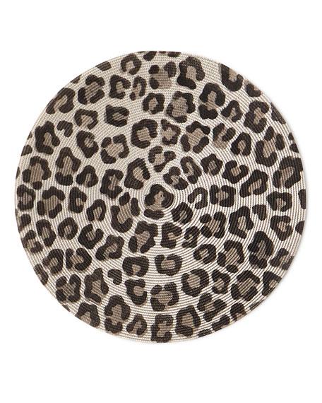 Deborah Rhodes Mod Leopard Round Placemat