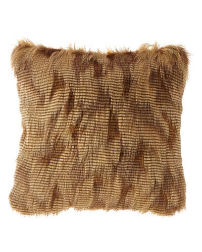 Abacus Square Faux-Fur Pillow