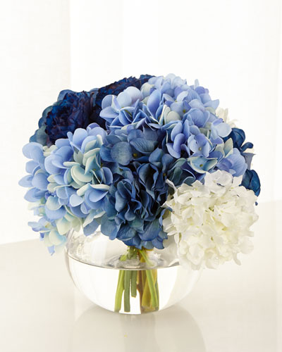Baby Blue Floral Arrangement