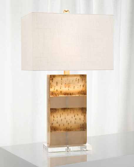 John-Richard Collection Frosted Gold Table Lamp