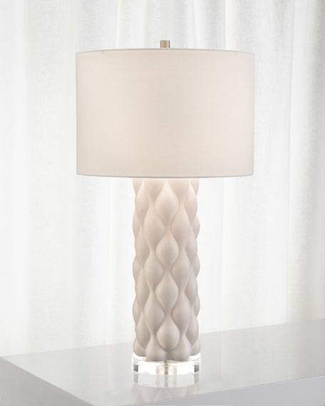 John-Richard Collection Billowy Textured Table Lamp